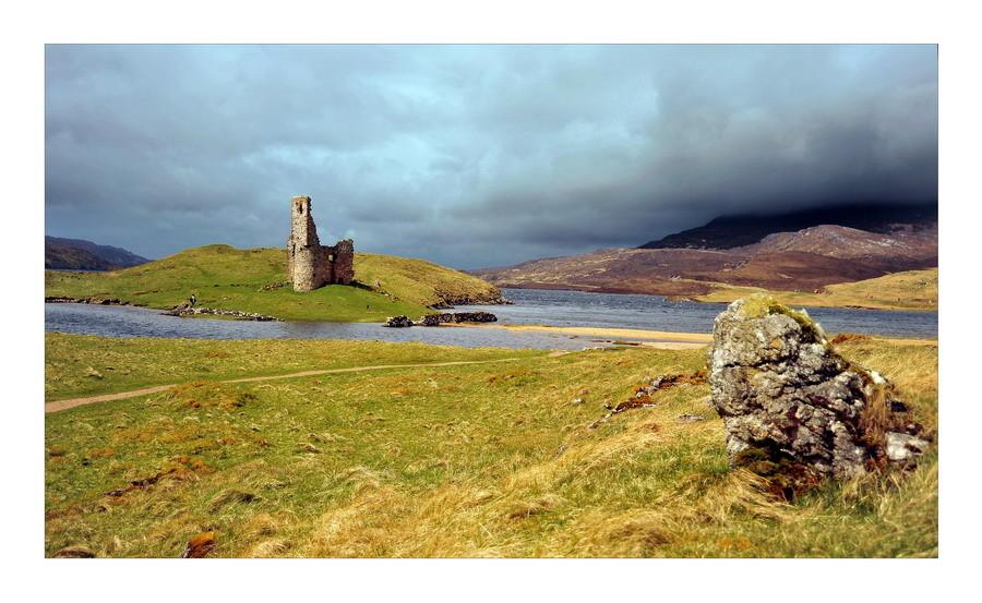 Ardvreck Castle, Loch Assynt, Sutherland, Highlands III