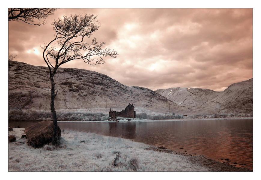 Kilchurn Castle, Loch Awe, Highlands V (infrarot)
