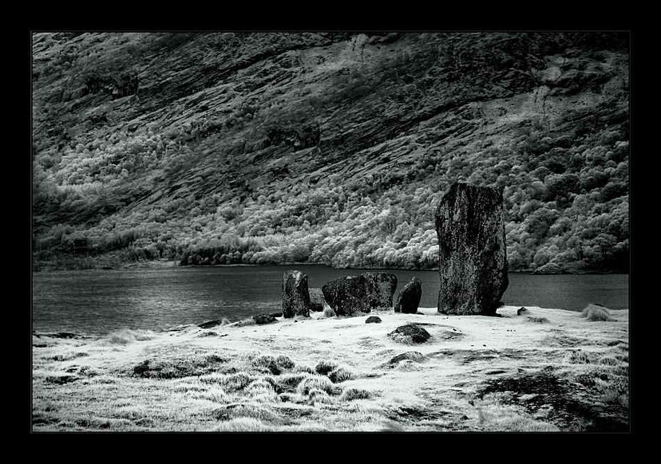Uragh Stone Circle IV / Beara Peninsula (Infrarot)