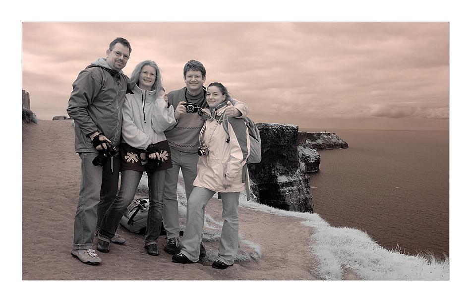 Tommes, Silvie, Marc & Moni (Infrarot)