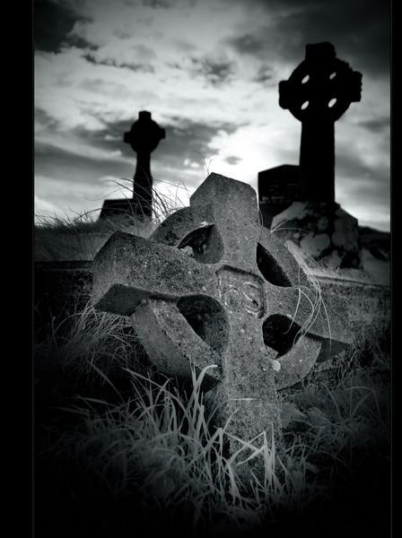 Derrynane Abbey, Iveragh Peninsula, Co. Kerry IX (Infrarot)