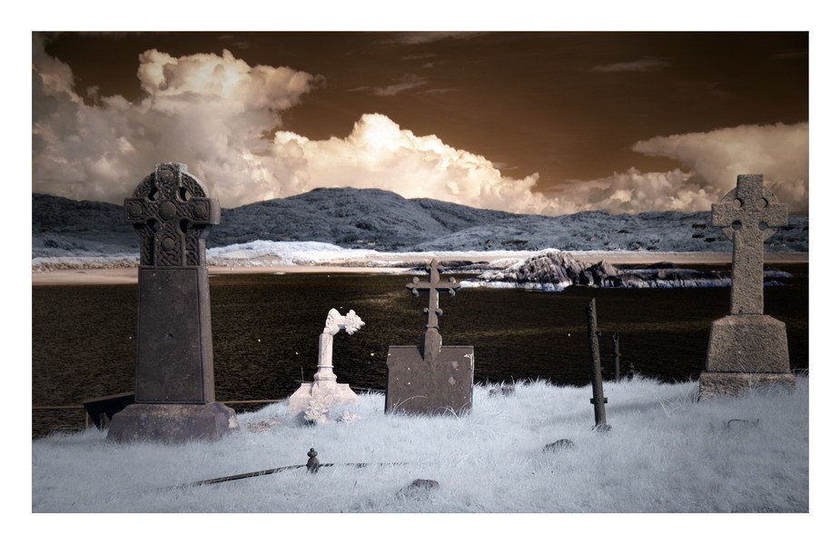 Derrynane Abbey, Iveragh Peninsula, Co. Kerry V (Infrarot)