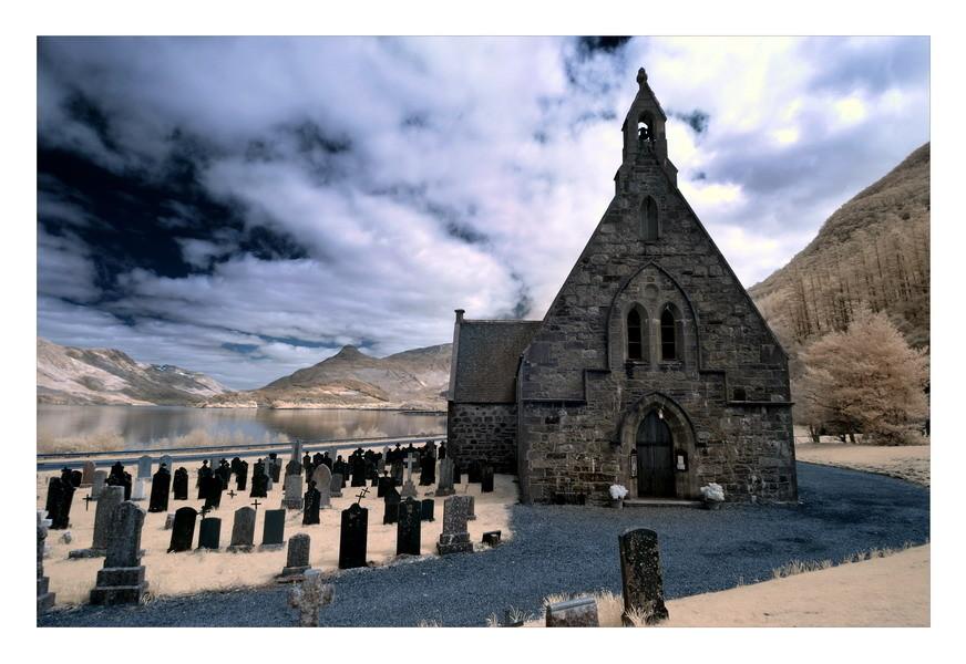 Old Cemetery, Loch Leven, Eingang zum Glen Coe, Highlands II (Infrarot)