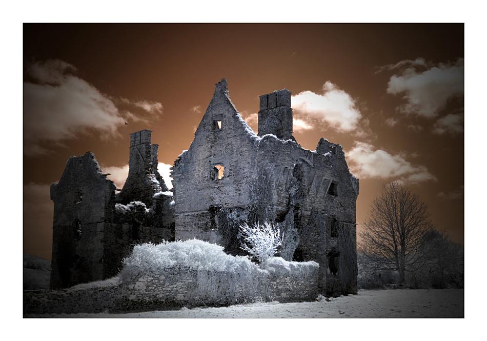 Castle bei Ross Carbery (Infrarot)