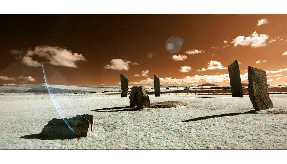 Standing Stones of Stenness / Mainland, Orkney II (Infrarot)