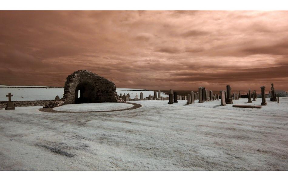 Orphir Round Kirk / Mainland, Orkney III (Infrarot)