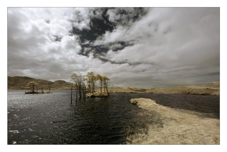 Loch Assynt, Sutherland, Highlands IV (Infrarot)