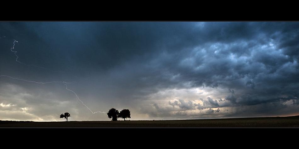 den Blitz eingefangen