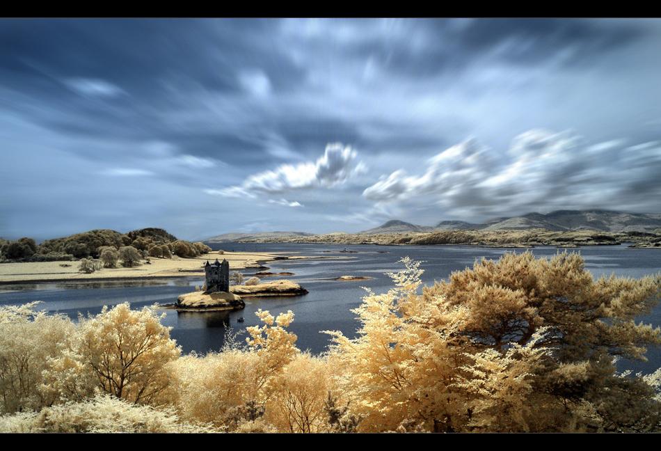 Castle Stalker / Loch Linnhe III (Infrarot)