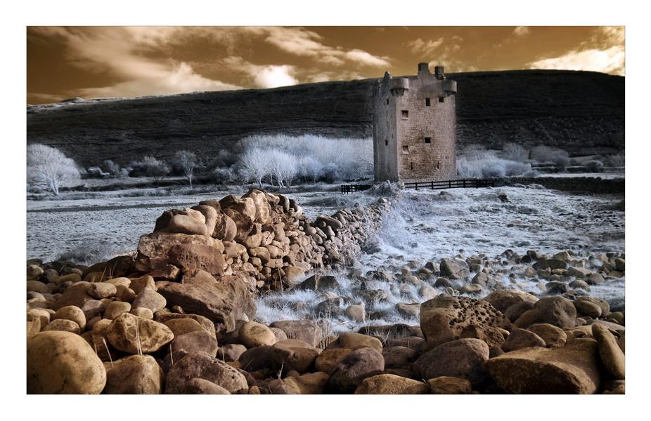 Gleninagh Castle, Co.Clare II (Infrarot)