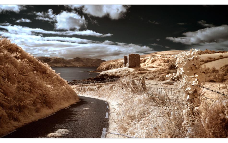 Minard Castle, Dingle Peninsula, Co. Kerry III (Infrarot)