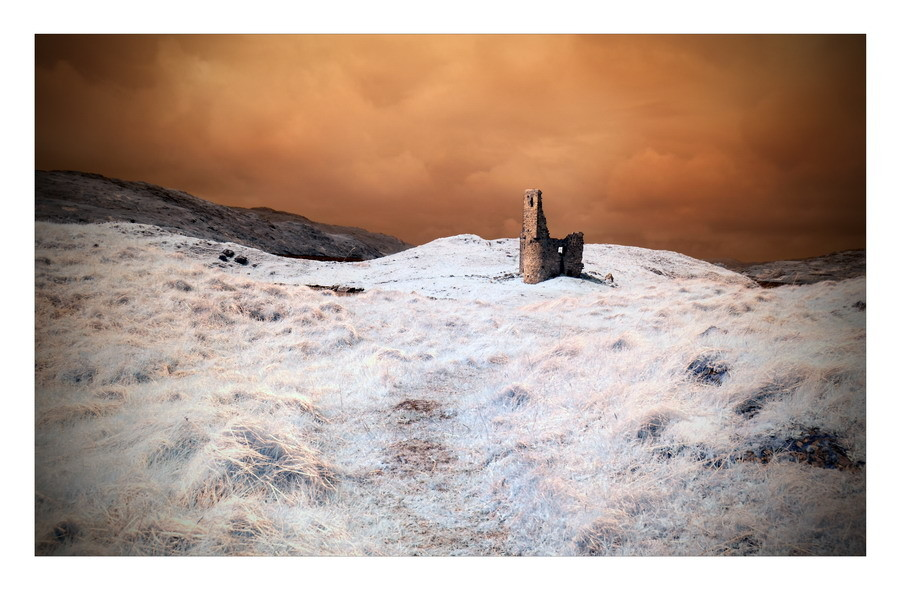 Ardvreck Castle, Loch Assynt, Sutherland, Highlands IV (Infrarot)
