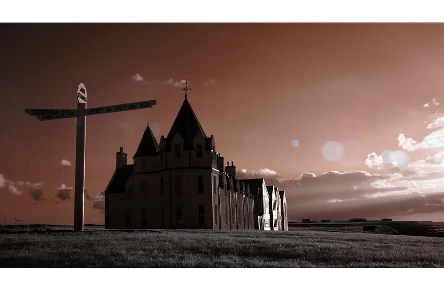 John o' Groats / Das letzte Haus Schottlands (Infrarot)