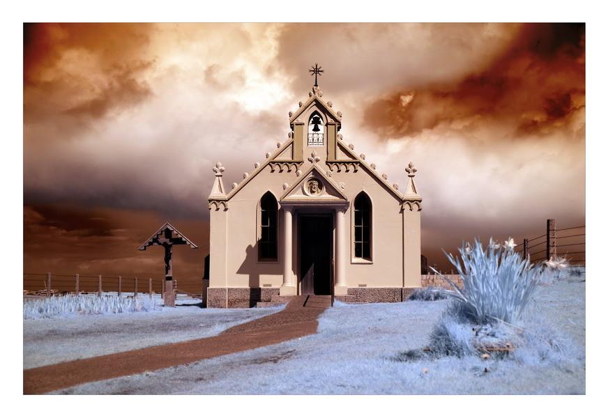 Italian Chapel / Orkneyinsel Lamb Holm (Infrarot)