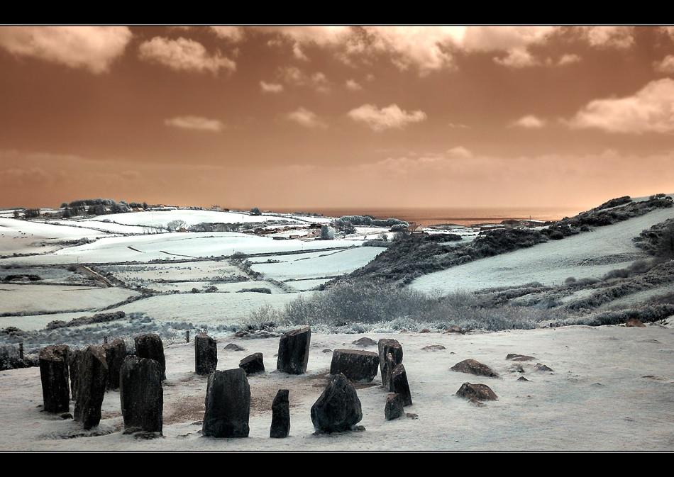Drombeg Stone Circle III (Infrarot)