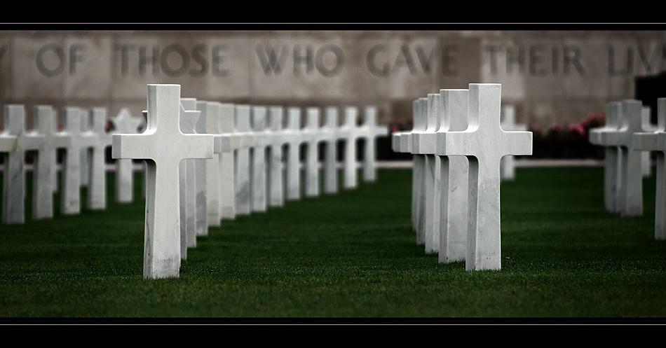 US-Soldatenfriedhof mit Gedenkstätte bei Henri-Chapelle III