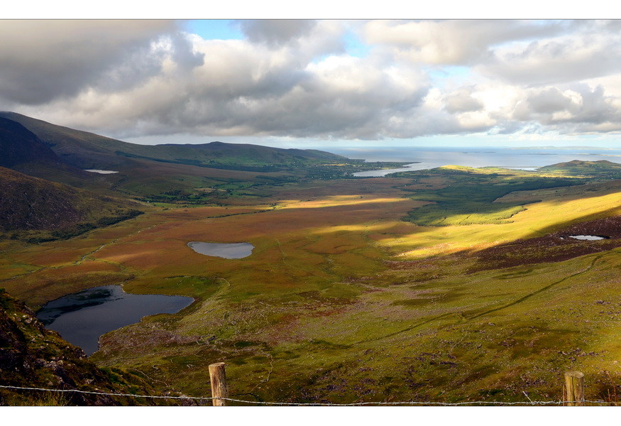 Blick vom Connor Pass, Dingle Peninsula, Co.Kerry