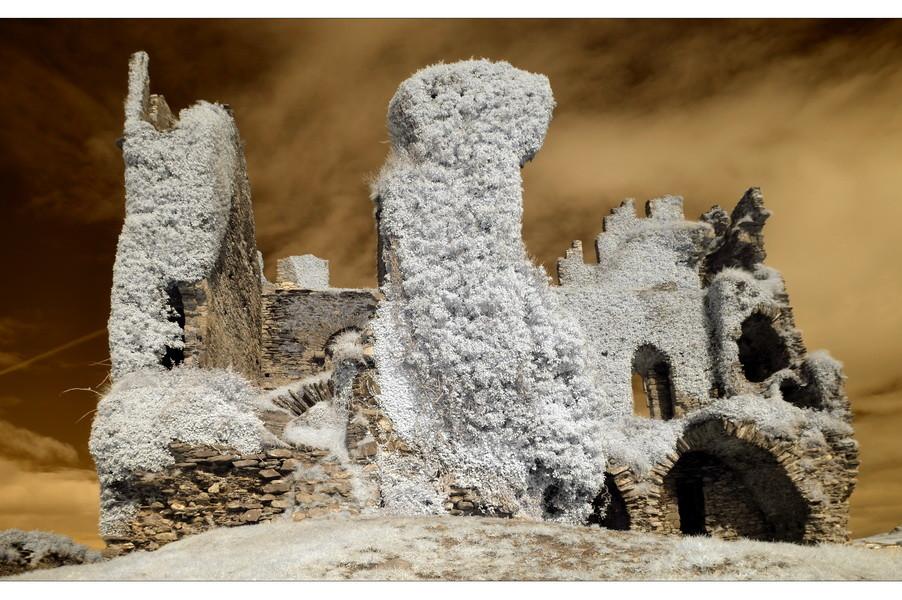 Ballycarbery Castle, Iveragh Peninsula, Co. Kerry (Infrarot)