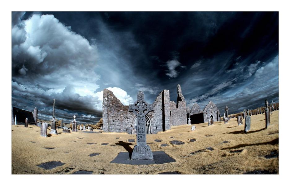 Clonmacnoise Monastery, Co.Offaly (Infrarot)