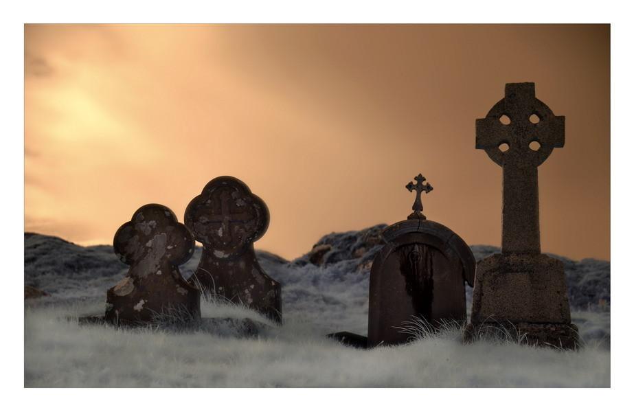 Derrynane Abbey, Iveragh Peninsula, Co. Kerry VIII (Infrarot)