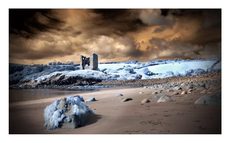 Minard Castle, Dingle Peninsula, Co. Kerry V (Infrarot)