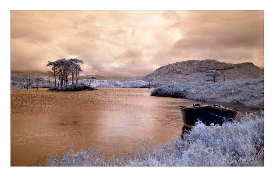 Loch Assynt, Sutherland, Highlands V (Infrarot)