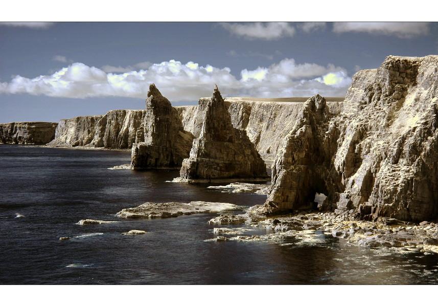 Stacks of Duncansby Head II (Infrarot)
