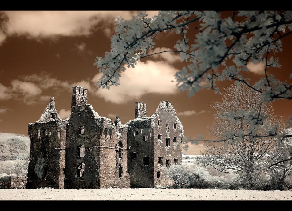 Castle bei Ross Carbery III (Infrarot)