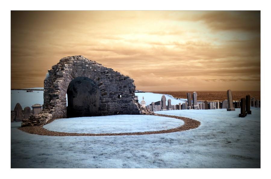 Orphir Round Kirk / Mainland, Orkney II (Infrarot)