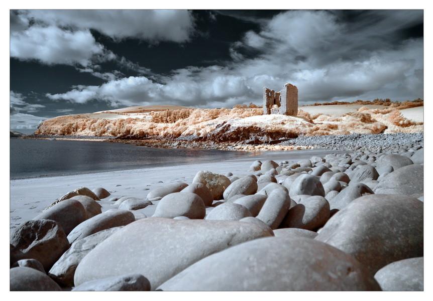 Minard Castle, Dingle Peninsula, Co. Kerry IV (Infrarot)