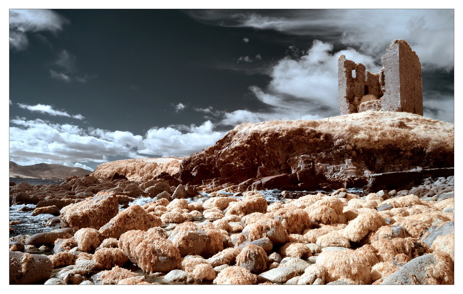 Minard Castle, Dingle Peninsula, Co. Kerry VII (Infrarot)