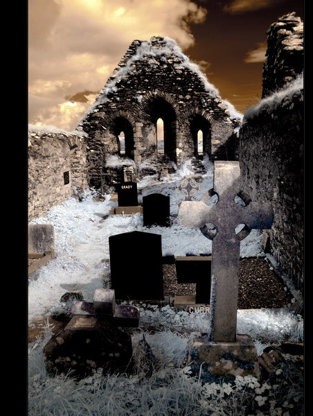 Derrynane Abbey, Iveragh Peninsula, Co. Kerry VII (Infrarot)