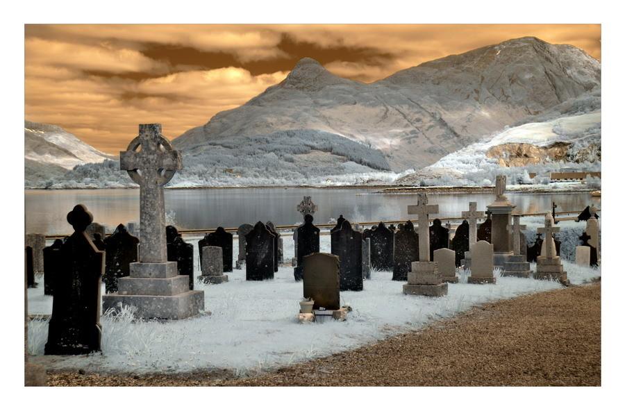 Old Cemetery, Loch Leven, Eingang zum Glen Coe, Highlands