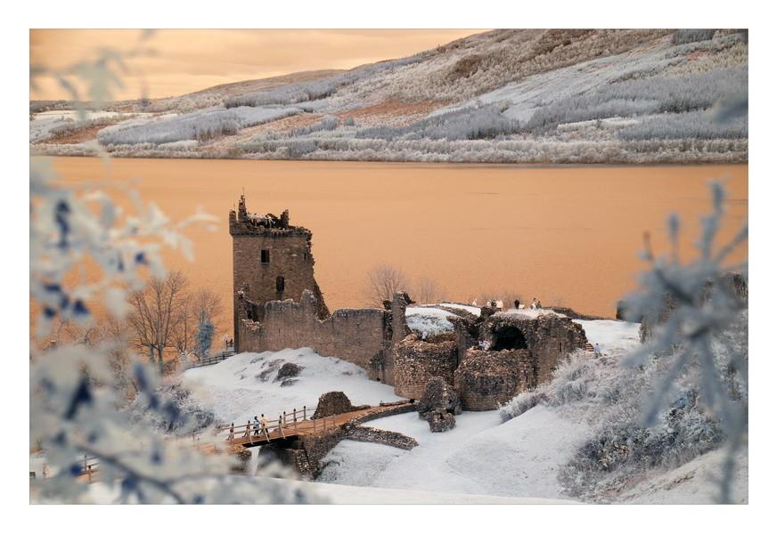 Urquhart Castle, Loch Ness, Highlands II (infrarot)