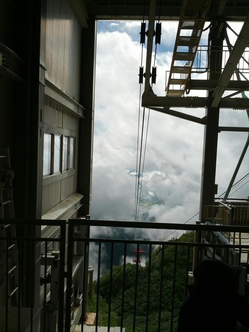 雲の中!!