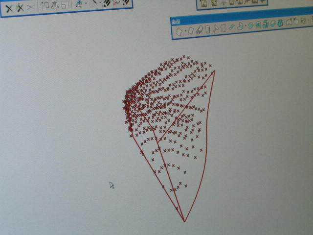 形状の読み取りの点群データー 秘密保持