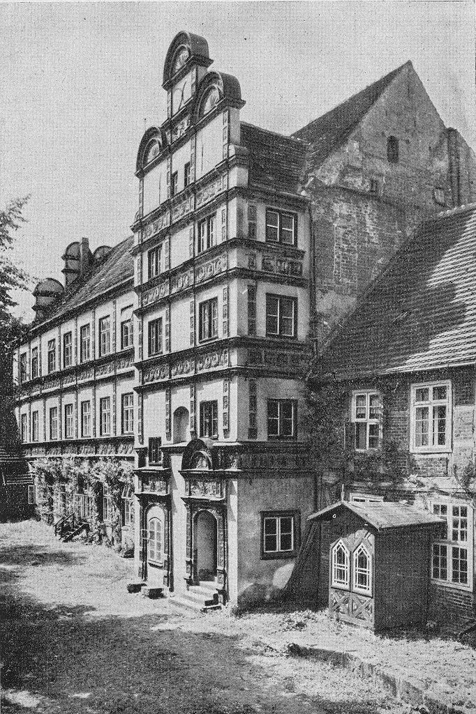 Das Schloss von Kutscherhaus aus um 1910