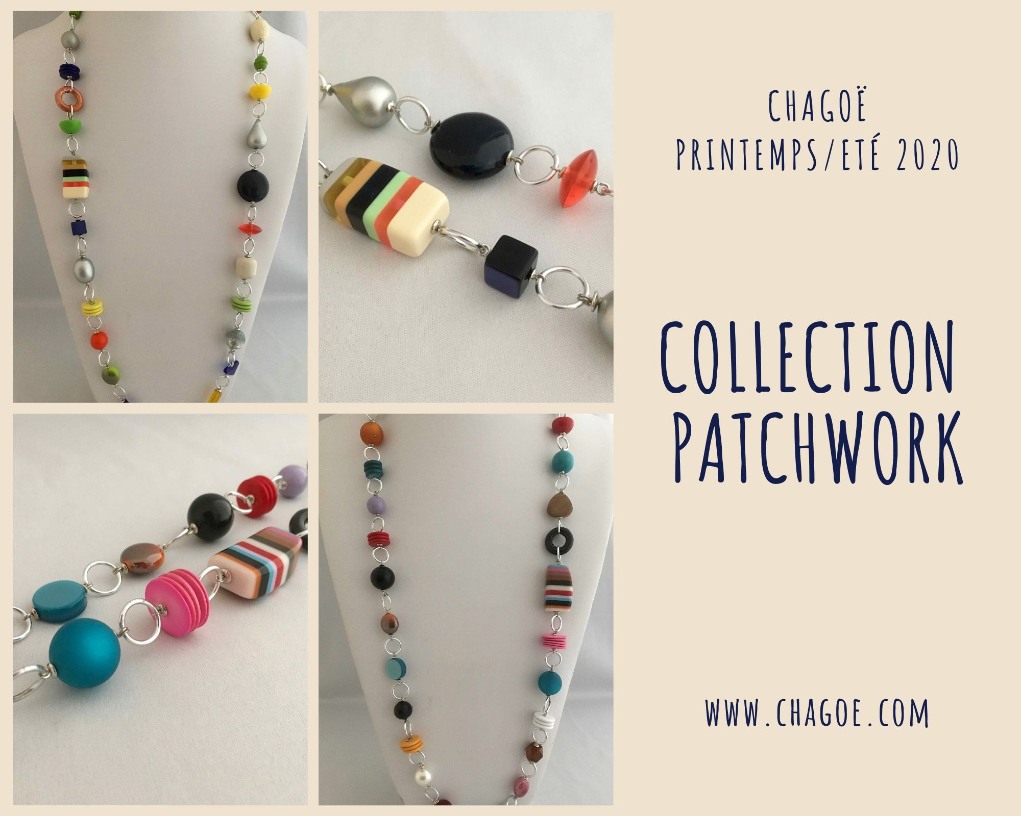 Collection PATCHWORK, Créations Printemps/Eté Chagoë 2020