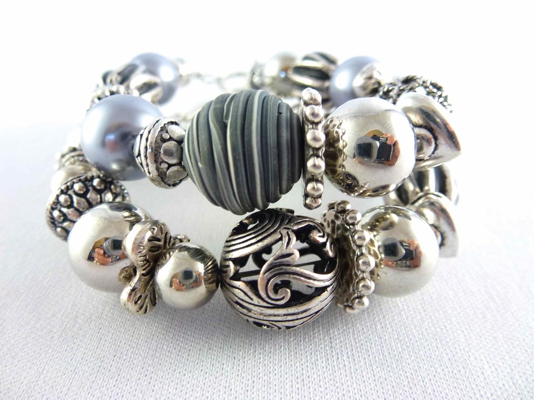 Bijoux Fantaisie: Bracelets Ref. BR7, BR8, Collection Hiver 2015, Créations Chagoë