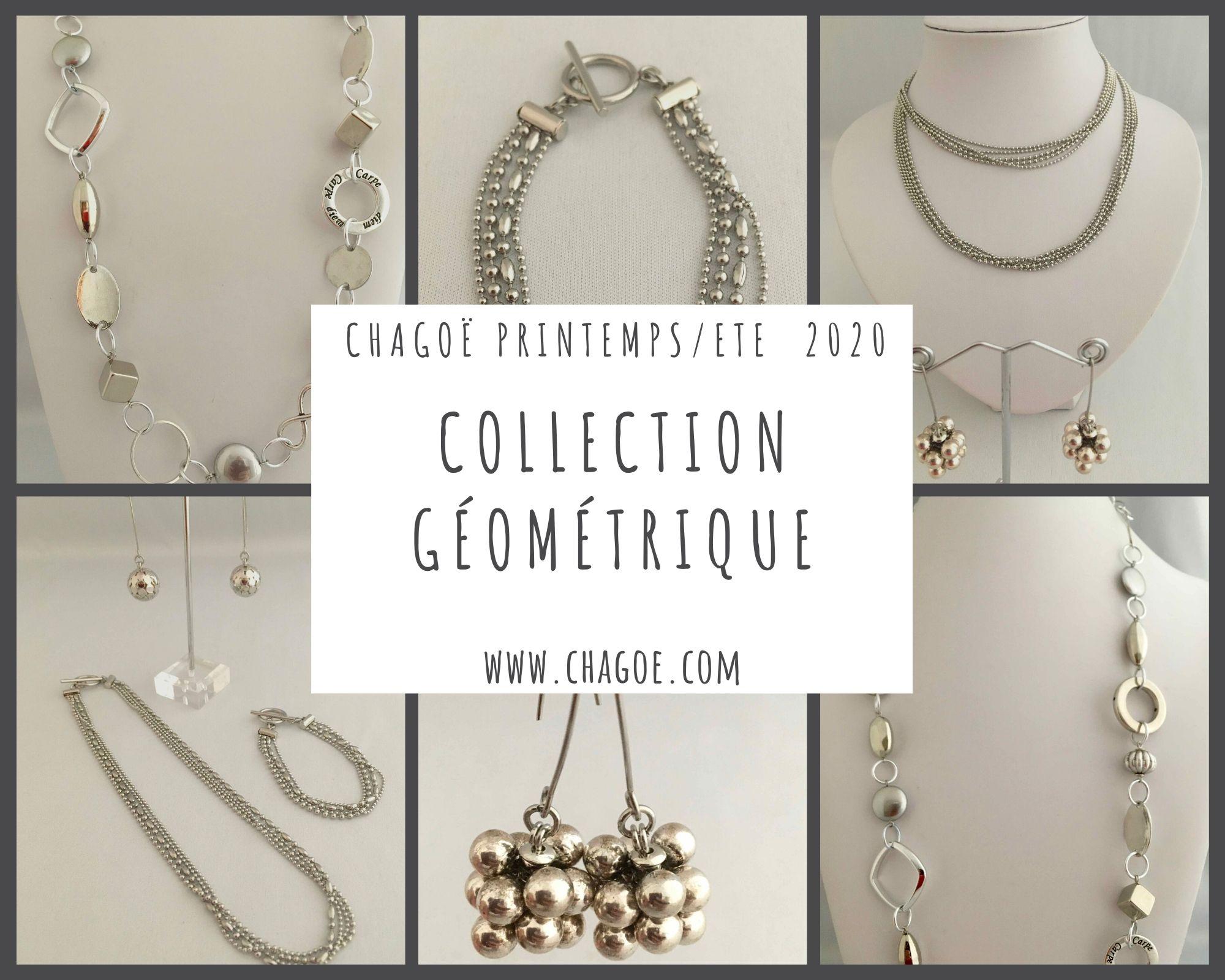 Collection GEOMETRIQUE, Créations Printemps/Eté Chagoë 2020