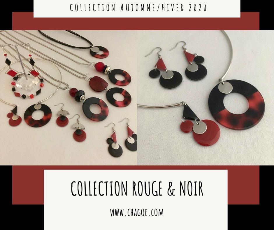 Collection ROUGE & NOIR, Créations Automne/Hiver Chagoë 2020