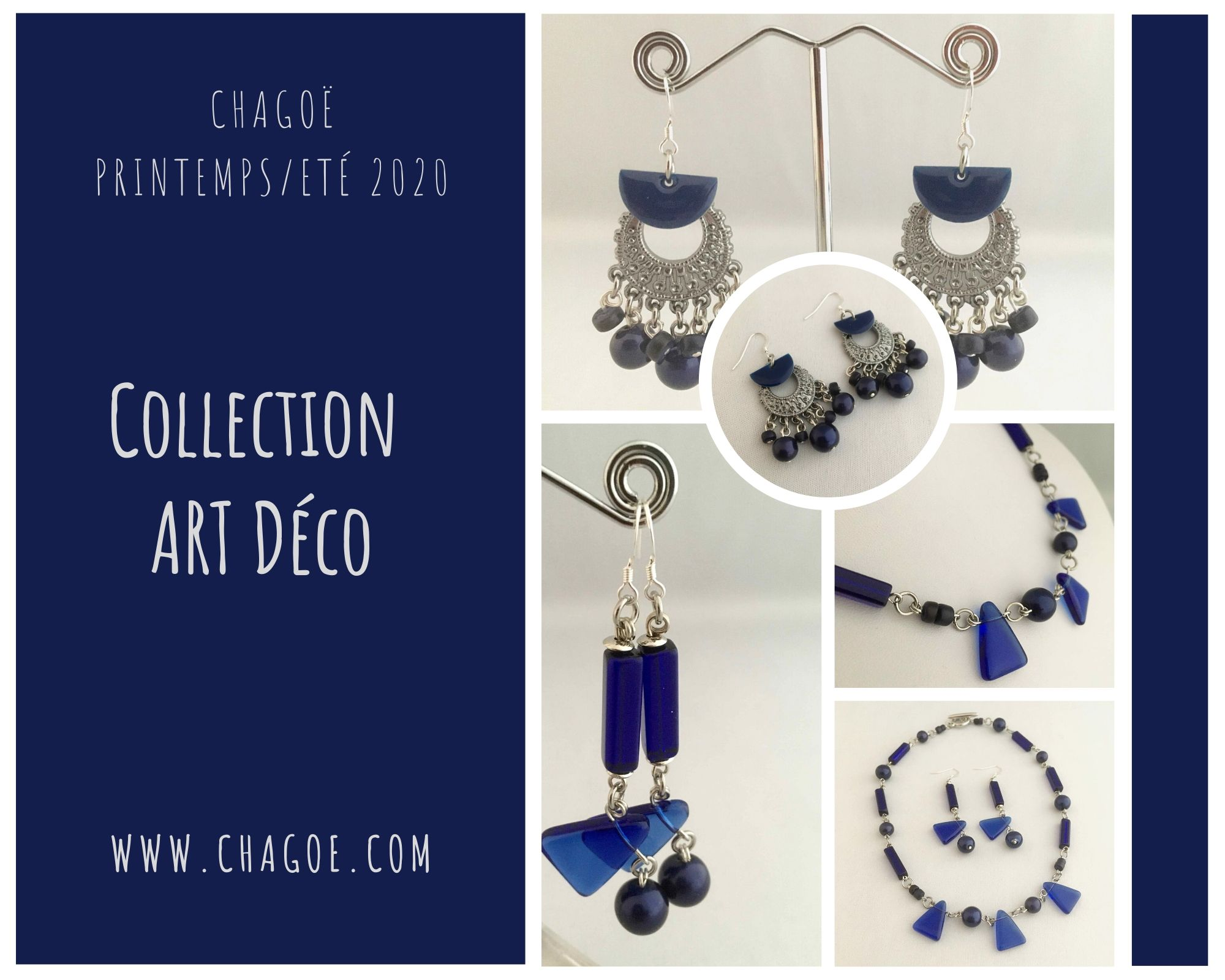 Collection ART DECO, Créations Printemps/Eté Chagoë 2020