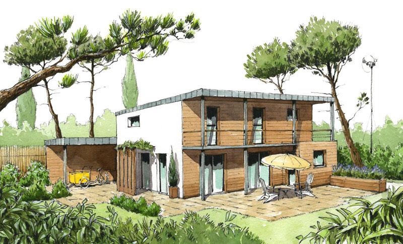 maison eco nature excellent maison eco nature with maison eco nature fabulous atmospheric. Black Bedroom Furniture Sets. Home Design Ideas