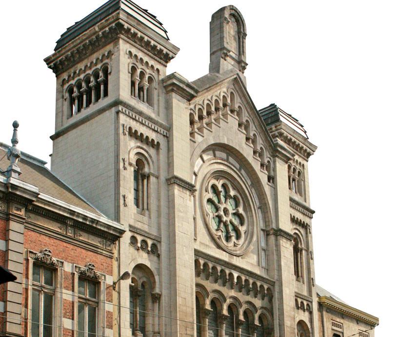 """Die """"Grande Synagogue"""" in der Rue de la Régance."""