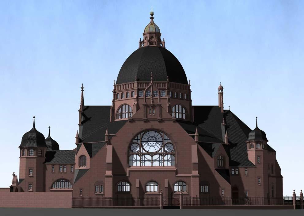 Dortmund, Blick auf die Südfassade
