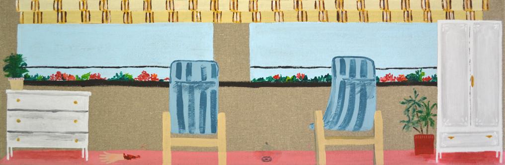 Terraza Ana, 20x60cm, acrílio sobre lienzo, maría azcona 2014