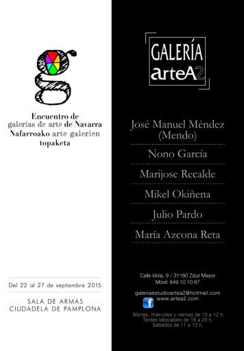 Encuentro de galerías de arte de Navarra. Galería ArteA2. Sala de Armas Ciudadela. maría azcona 2015