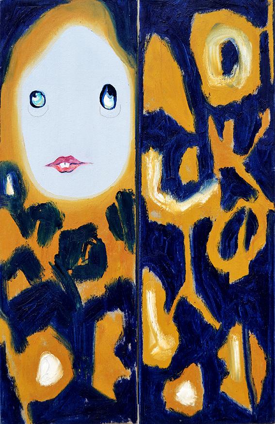 Prueba de color, 60x40cm (x2), óleo sobre lienzo, maría azcona 2014