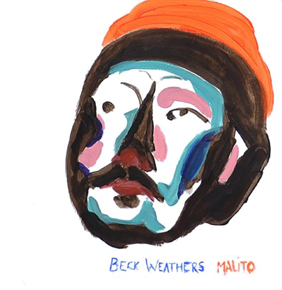 Beck tiene frío, 30x30cm, acrílico sobre papel, maría azcona 2013