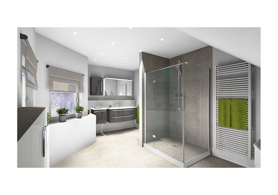 Badezimmer modern gestaltet